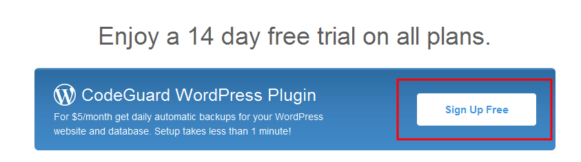 Click sign up for free