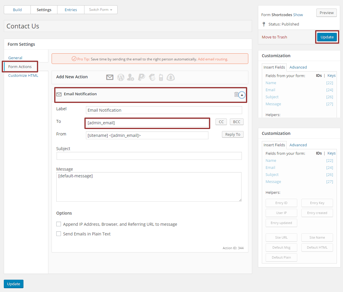 Create Contact Form Using Formidable Forms in WordPress