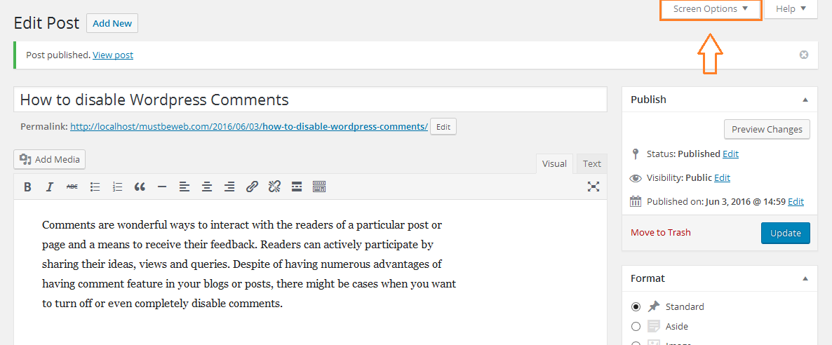 How to Disable WordPress Comments in Posts and Pages