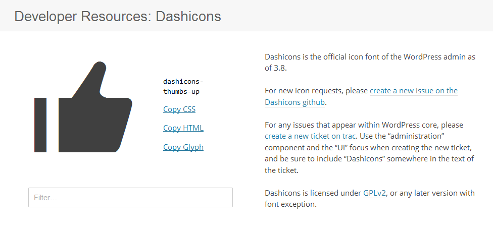 Add Dashicons in WordPress Themes and Plugins